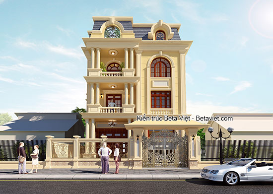 Thiết kế biệt thự tân cổ điển diện tích 12x17m