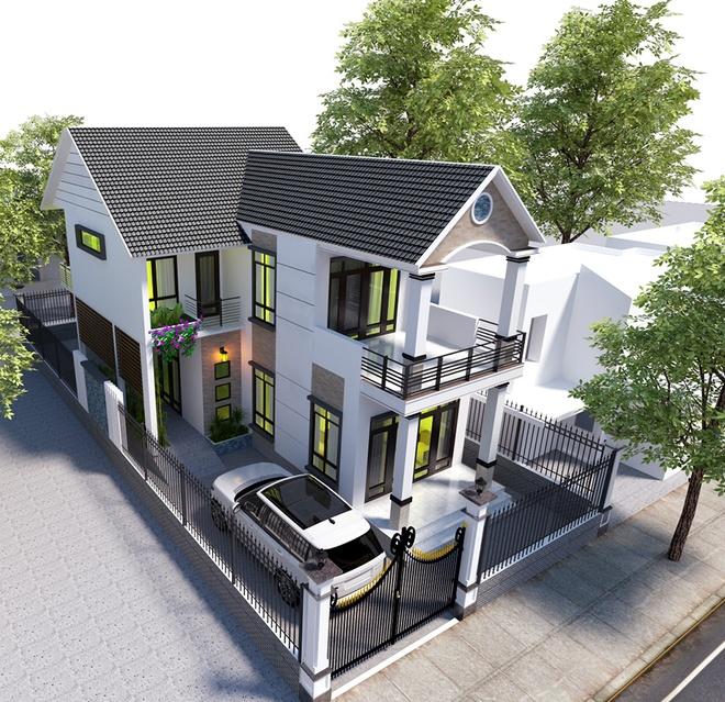 Tư vấn thiết kế biệt thự 2 tầng,thi công trọn gói biệt thự diện tích 240m2