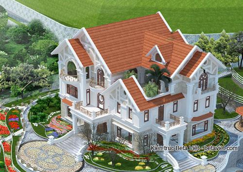 Thiết bế biệt thự 3 tầng trên đất 1000m2 ở Lào Cai