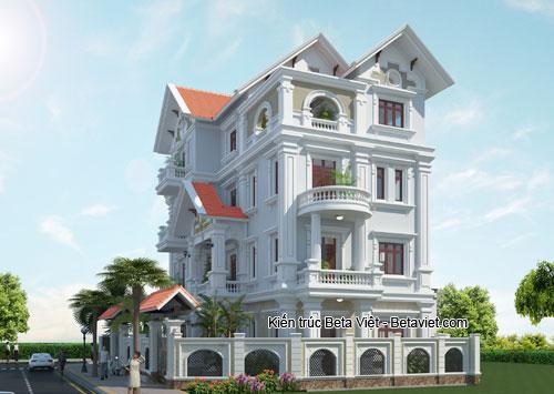 Tư vấn xây biệt thự 4 tầng tinh khôi mang phong cách tân cổ điển