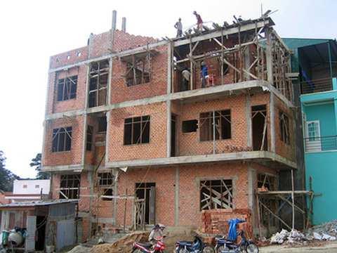 Báo giá xây nhà trọn gói phần thô tại Hà Nội tháng 03/2016