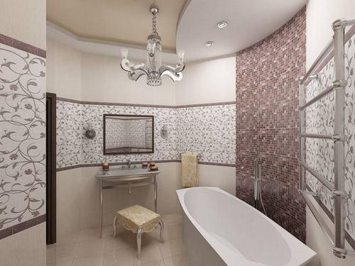 Phòng tắm sang trọng hơn với gạch mosaic thủy tinh