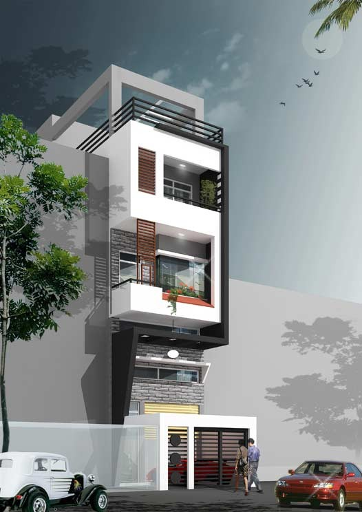 Trước hết, yêu cầu khi thiết kế mặt tiền cho nhà phố không chỉ đáp ứng về mặt thẩm mỹ mà còn đảm bảo về mặt công năng.