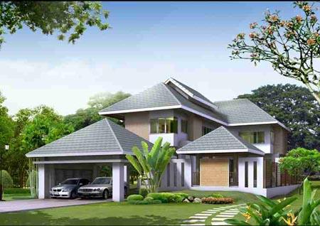 Tư vấn thiết kế biệt thự, xây biệt thự 1,5 tầng diện tích 150m2