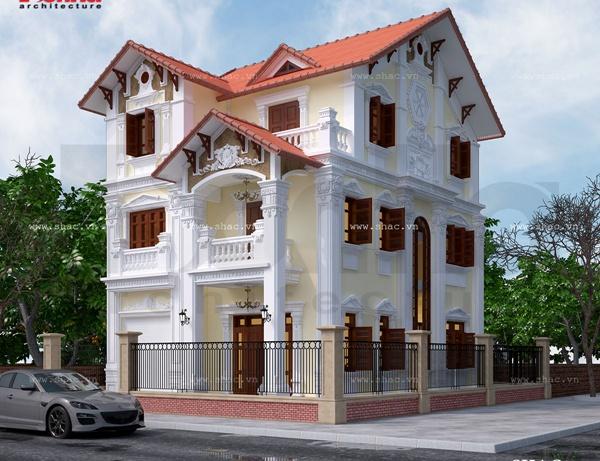 Thiết kế biệt thự tân cổ điển trên diện tích đất 20x16m
