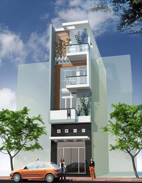 Mẫu nhà phố 3 tầng diện tích 60m2