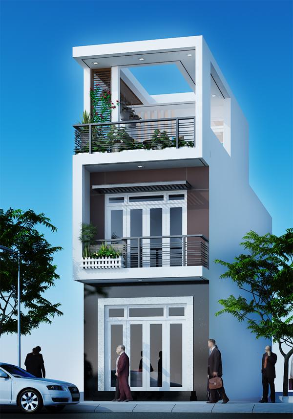 Mẫu nhà 3 tầng hiện đại - 01