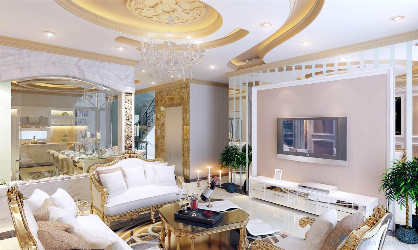 Thiết kế biệt thự phong cách cổ điển hoàng gia