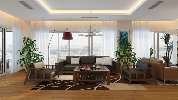 Thiết kế nhà và bố trí nội thất cho nhà phố có 6 phòng ngủ