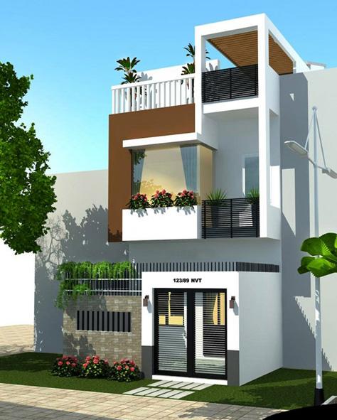 Thiết kế nhà phố 4 tầng với phong cách hiện đại