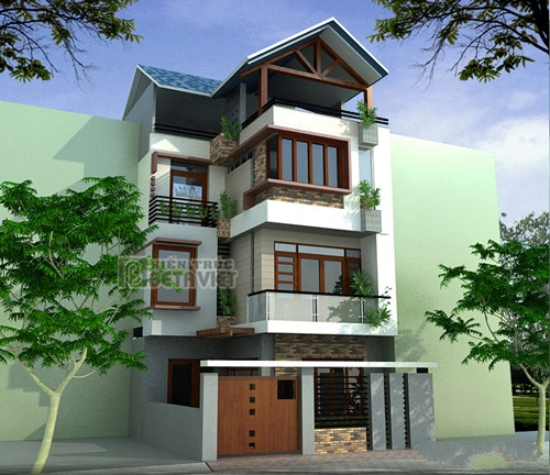Thiết kế nhà phố đẹp diện tích 80m2